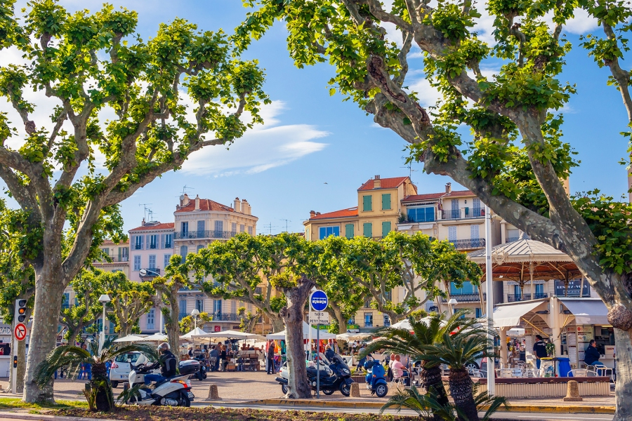 The Pantiero area in Cannes