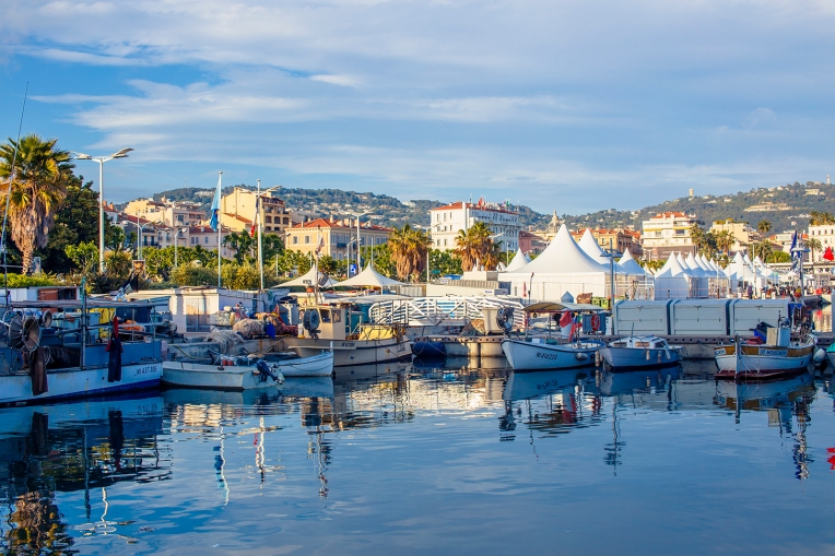 The Vieux Port harbour in Cannes