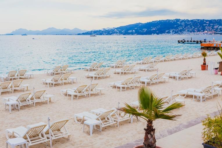 Golfe Juan seaside, French Riviera