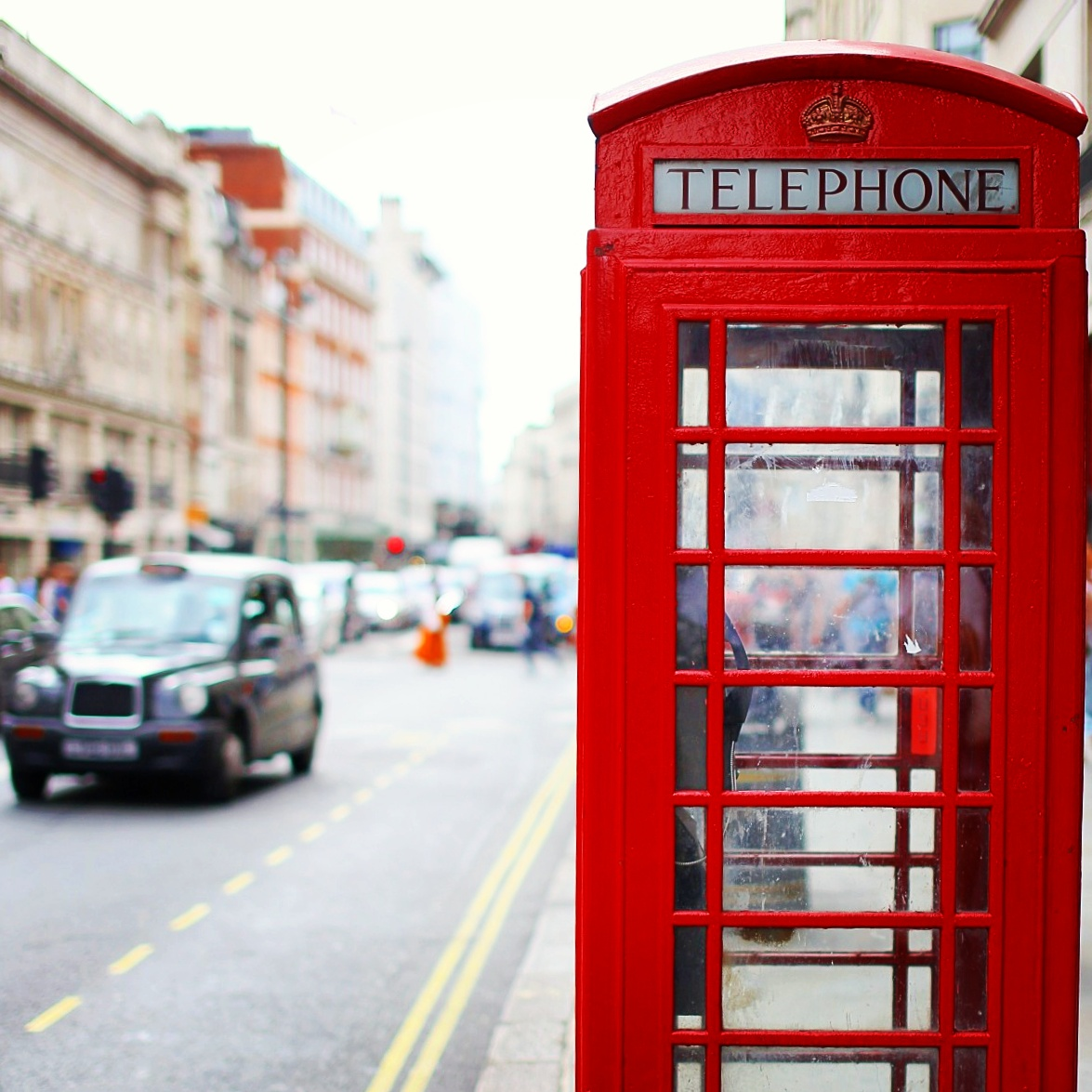 The typical red phonebox in London