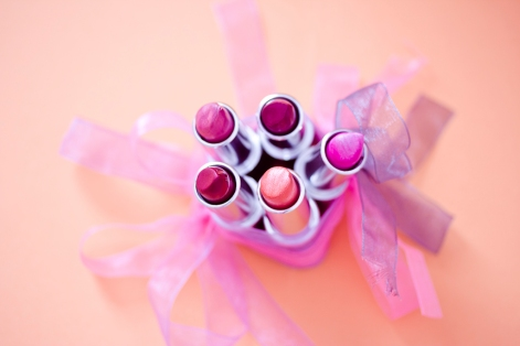 collection of lipsticks in soft tones