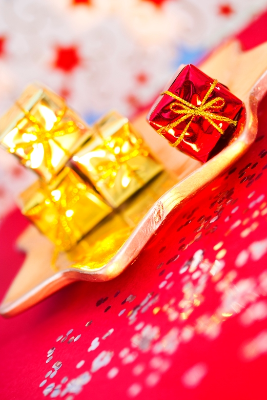 tiny present, Christmas and party decoration