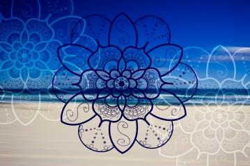 bondi beach white mandala lotus 2