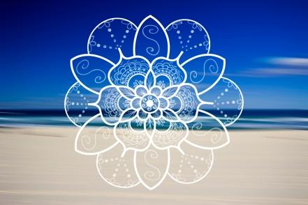 bondi beach white mandala lotus UPSCALED 4 leggings