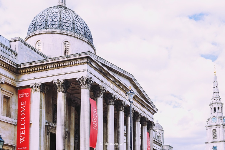 Trafalgar Square National Gallery by Faithieimages 05