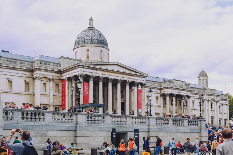 Trafalgar Square National Gallery by Faithieimages 06