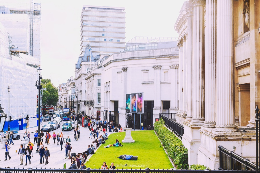 Trafalgar Square National Gallery by Faithieimages 11