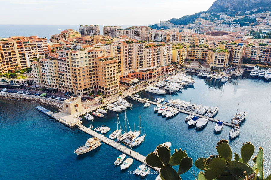 Monaco views Port de Fontvieille by Faithieimages