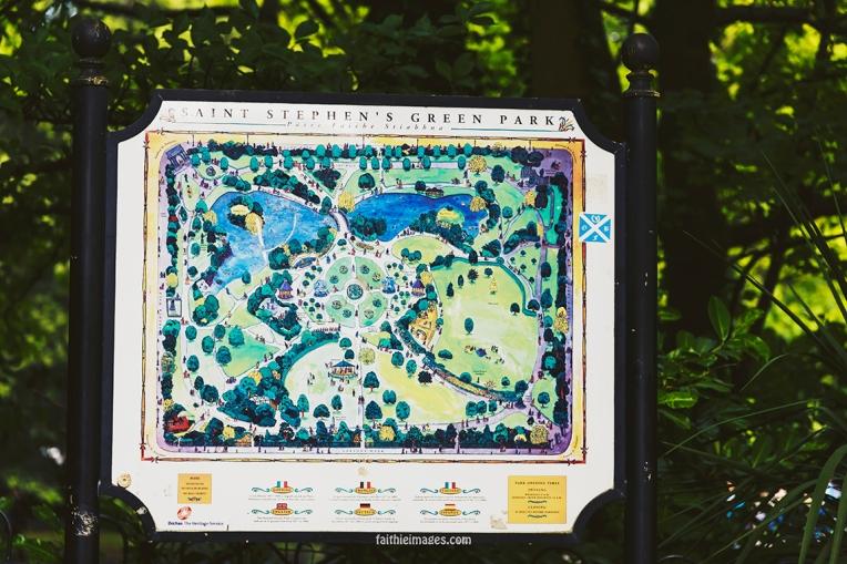 St Stephen's Green Park Panel in Dublin city centre