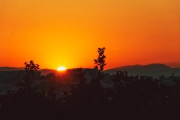 20110630-IMG_5427-Dramatic orange sunset over the hillside of Cannes